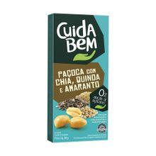 PAÇOCA COM CHIA, QUINOA E AMARANTO CUIDA BEM CAIXA 88g COM 4 UNIDADES DE 22g